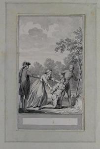 Illustratie bij 'Het kloekmoedig besluit' uit de Fabelen en vertelsels van F.C. Gellert