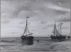 Aan de kust van Scheveningen