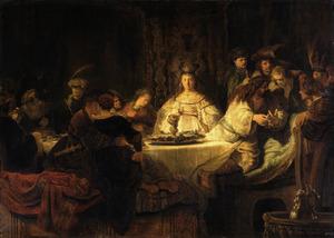 De bruiloft van Simson (Richteren 14:10-14)