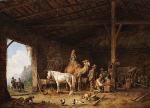 Circus in ruste in een stal