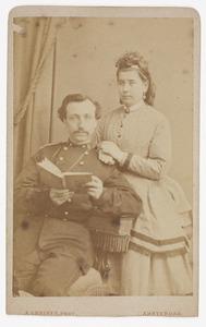 Portret van Nicolaas van Rijnberk (1845-1929) en een vrouw, waarschijnlijk Mathilda Jacoba Salomon Huijgens (1849-...)