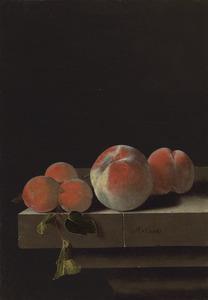 Stilleven met perziken en abrikozen