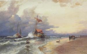 Avondstemming aan de Hollandse kust