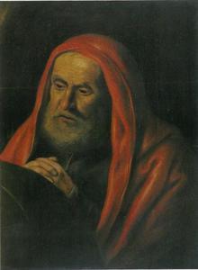 De Griekse presocratische filosoof Heraclitus uit Efeze (c. 535-c 475)