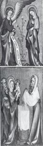 Annunciatie (linkerluik), Presentatie in de tempel (rechterluik)