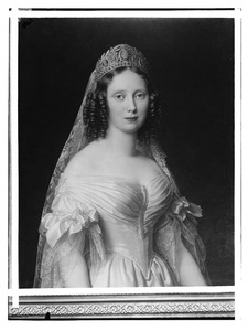 Portret van koningin Sophie, prinses van Wurtemberg, als erfprinses der Nederlanden (1818-1877)