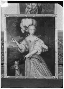 Portret van waarschijnlijk Agnes Isabella van Raesfelt (1653-1674)