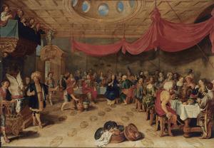 Het wijnwonder tijdens de bruiloft te Kanaän