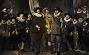 Het korporaalschap van kapitein Allaert Cloeck en luitenant Lucas Jacobsz Rotgans, van de Kloveniersdoelen te Amsterdam, 1632