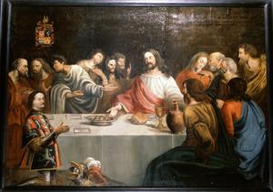 Het laatste avondmaal met portret van Willem van Abcoude (.... -1407)