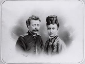 Dubbelportret van Carel de Iongh (1841-1917) en Geertruida Sina Wilhelmina van Yperen