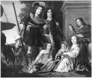 Familieportret van de kinderen van Maerten Harpertsz. Tromp (1598-1653)