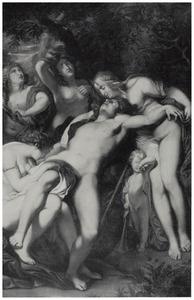 Venus en haar nimfen treurend bij het ontzielde lichaam van Adonis