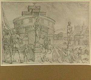 Rome, Paus Clemens VII in de Engelenburcht belegerd