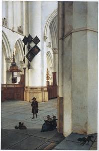 Interieur van de St. Bavokerk te Haarlem, vanuit de Kerstmiskapel gezien