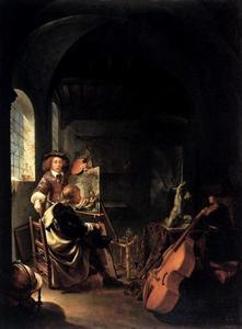 Een connaisseur in het atelier van de kunstenaar