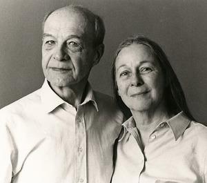 Portret van Carl van der Plas (1930-) en Anne-Marie Heyligers (1931-)