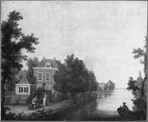Gezicht op de buitenplaats Nieuwerhoek te Loenen aan de Vecht
