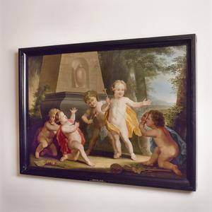 Allegorische voorstelling ter herinnering aan schouwburgbrand van 1772