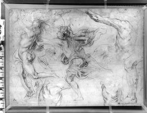 Figurenstudies met onder meer Apollo en Daphne (Ovidius, Metamorfosen, I, 452-552)