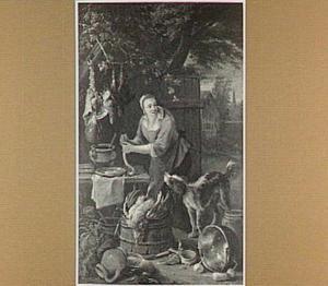 Meisje op boerenerf maakt worst