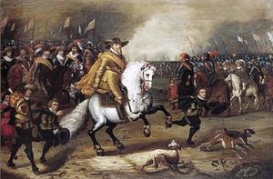 Maurits, prins van Oranje-Nassau (1567-1625) na de slag bij Nieuwpoort, 2 juli 1600