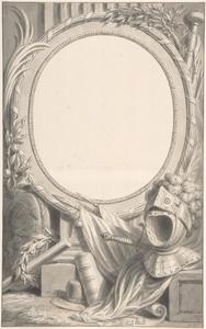Ontwerp voor een omlijsting van een portret van Frederik Hendrik van Oranje-Nassau (1584-1647)