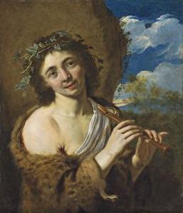 Zogenaamd portret van Adriaen van der Werff (1659-1722) als Bacchus