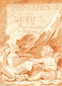 Ontwerptekening voor het titelblad van 'Principes de dessin par E.S. Monnet Peintre'