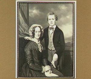 Portret vanWilhelm Cornelis Berns (1837-1911) en zijn moeder Wilhelmina Trompert (1803-1878)