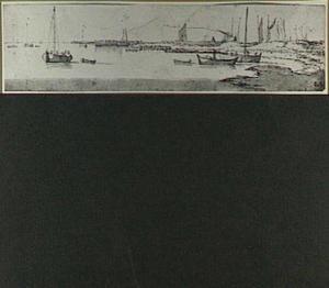 Boten bij een haven