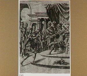 David brengt het hoofd van Goliat naar Saul (1 Samuël 17: 57)