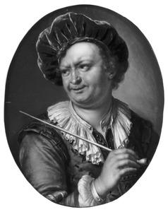 Een man met een baret en een pijp