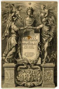 Titelpagina voor F. De Marselaer, Legatus, Antwerpen 1666