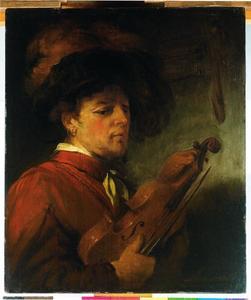 Man met een viool; allegorie op het Gehoor