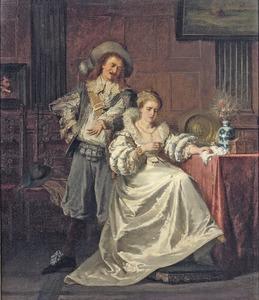 Elegant echtpaar in een interieur