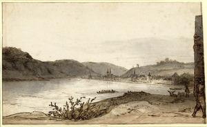 Gezicht op Boppard aan de Rijn, vanaf het noorden