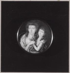 Portret van een vrouw en een kind, waarschijnlijk  Cornelia van Brakel (1754-1823) en Anna Jacoba Wilhelmina van Aylva (1778-1814)