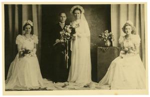 Portret van een onbekend bruidspaar