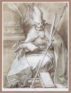 Een bisschop (H. Bonifatius)