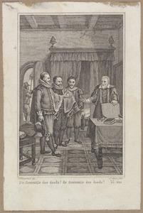 Johan van Oldenbarnevelt (1547-1619) verneemt zijn doodvonnis
