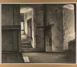 Gezicht in de keuken of benedenzaal van het huis Dever te Lisse