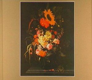 Bloemstilleven op een marmeren tafelblad