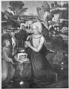 De H. Maria Magdalena in een landschap