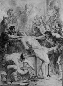 Studie van het martelaarschap van de Heilige Laurentius