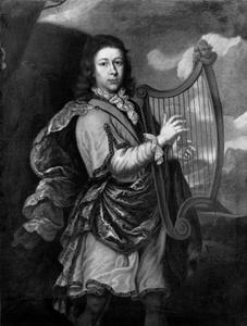 Portret van jonge man als koning David