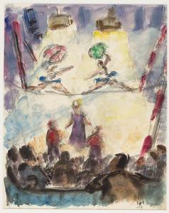 Koorddansers in circus Bol...