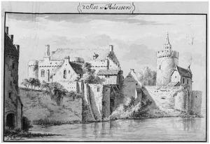 Achterzijde van kasteel Huissen