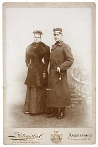 Portret van Willem Hendrik Joan van de Poll (1867-1921) en Anna Agatha Geertruida Gevaerts (1873-1941)