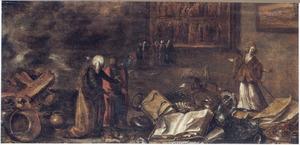 Croesus toont zijn schatten aan Solon